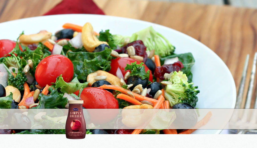 Made with Marzetti Simply Dressed Pomegranate Vinaigrette