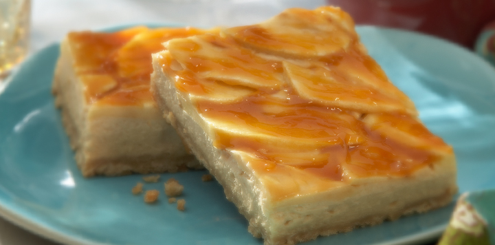 Apple Caramel Cheesecake Bars Recipe