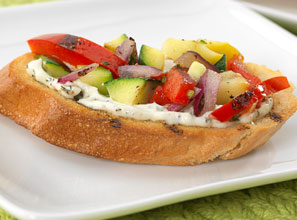 Grilled Vegetable Bruschetta Recipe
