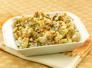 Oven Roasted Cauliflower with Crunchy Topping Recipe