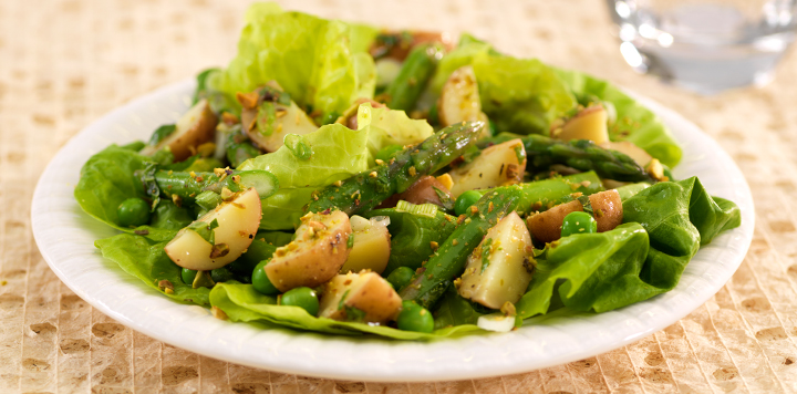 Spring Salad With Potatoes and Asparagus