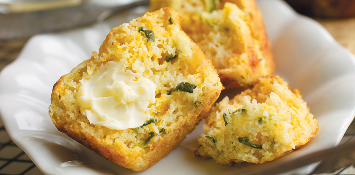 ... these zucchini and cheese cornbread muffins super moist and extra