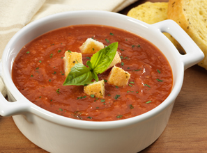 Roasted Tomato Basil Bread Soup Recipe