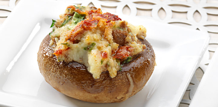 Sun-dried Tomato Stuffed Mushrooms Recipe