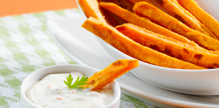 Oven Baked Sweet Potato Strips