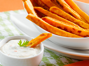 Oven Baked Sweet Potato Strips Recipe