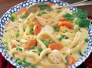 Hearty Chicken and Noodles Soup Recipe