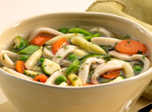 Springtime Vegetable Noodle Soup