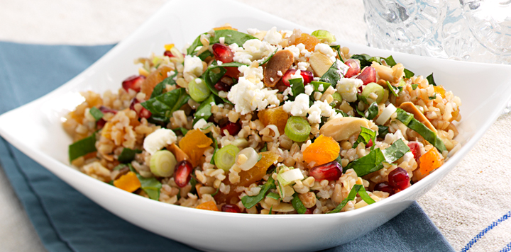 cracked wheat harvest salad - The Clever Carrot