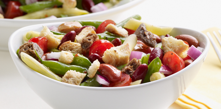 green bean salad with caesar croutons recipe this bean salad recipe ...