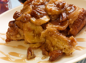 Upside Down Banana Pecan French Toast Recipe